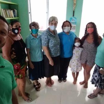 Missão Bahia - Visita dos familiares da ir Milene(de azul) a nossa comunidade
